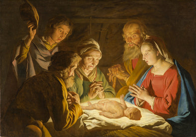 Matthias Stom - The Adoration of the Shepherds