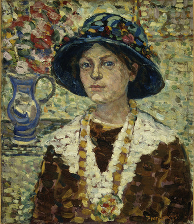 Maurice Brazil Prendergast - Portrait of a Girl with Flowers