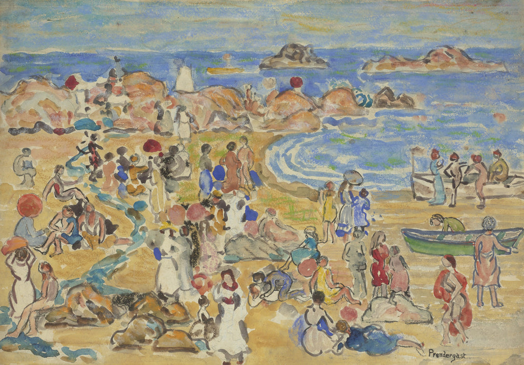 Maurice Brazil Prendergast - View Along New England Coast