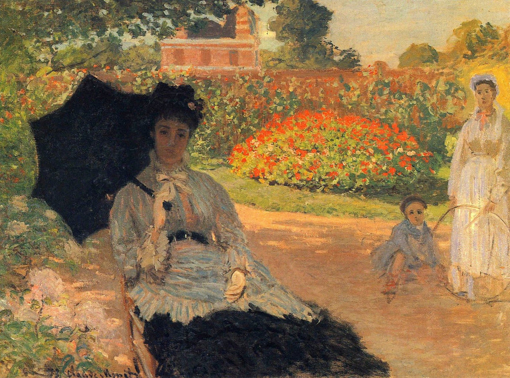 Monet - Camille Monet in the Garden