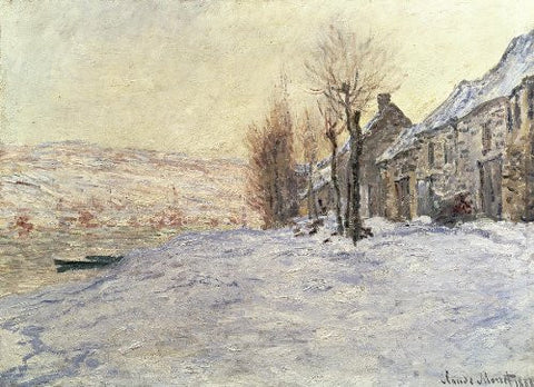 Monet - Lavacourt Sunshine and Snow