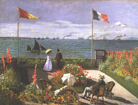 Monet - Terasse am Meeresufer von Sainte Adresse