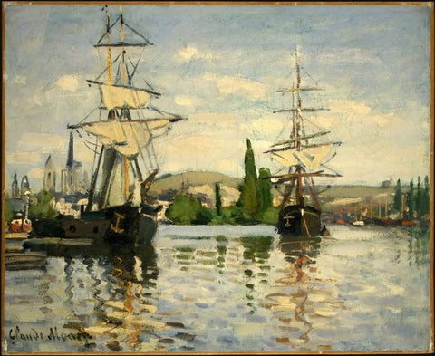 Monet - Ships Riding on the Seine at Rouen
