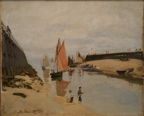 Monet - The Harbour at Trouville