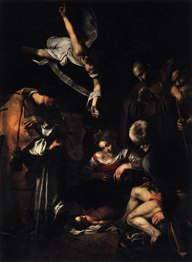 Caravaggio - Nativity with San Lorenzo and San Francesco