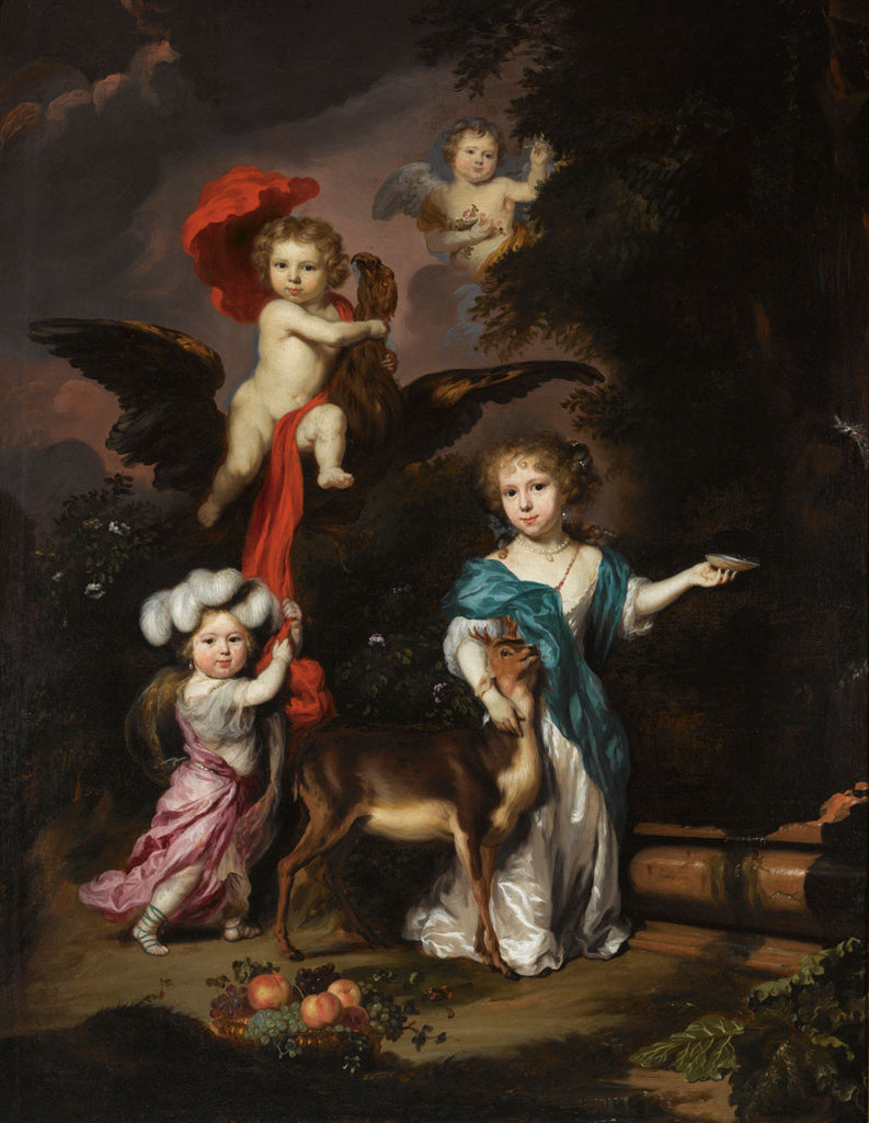 Nicolaes Maes - A Pastoral Family Portrait of Four Children