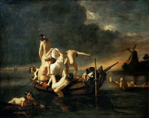 Nicolaes Maes - Children Bathing