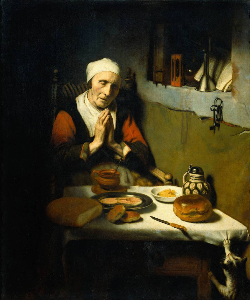 Nicolaes Maes - Old Woman at Prayer