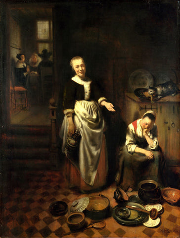 Nicolaes Maes - The Idle Servant