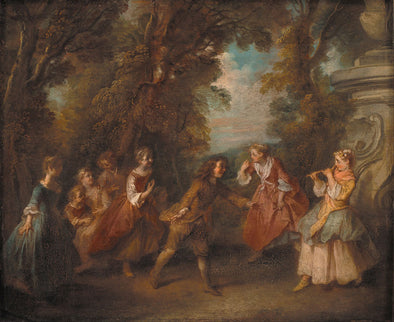 Nicolas Lancret - Children at Play in the Open