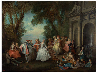 Nicolas Lancret - Dance before a Fountain