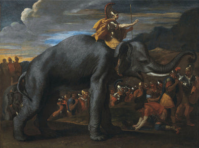 Nicolas Poussin - Hannibal crossing the Alps