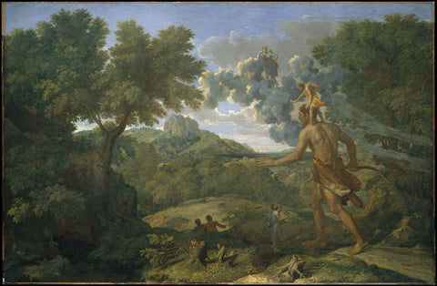 Nicolas Poussin - Landscape with Blind Orion seeking the Sun