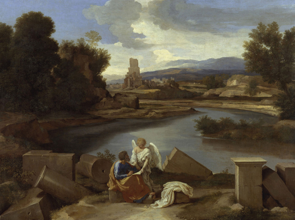 Nicolas Poussin - Landscape with St Matthew and the angel