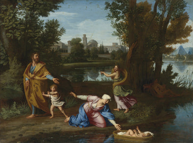 Nicolas Poussin - Moses Cast into the Nile