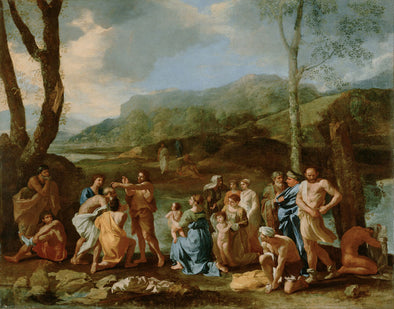 Nicolas Poussin - Saint John Baptizing in the River Jordan