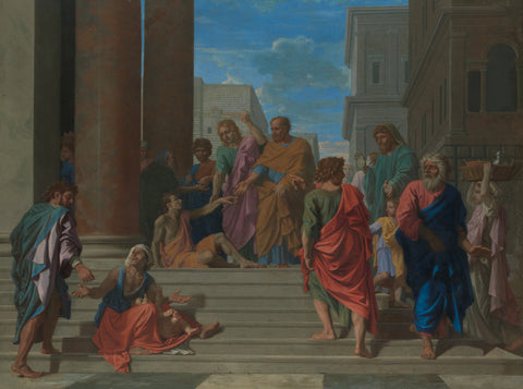 Nicolas Poussin - Saints Peter and John Healing the Lame Man