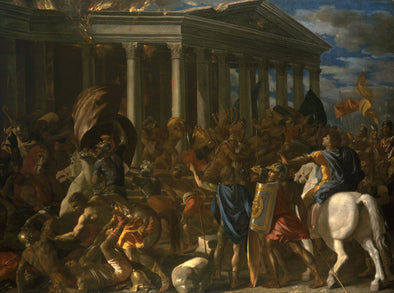 Nicolas Poussin - The Destruction and Sack of the Temple of Jerusalem