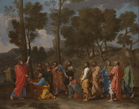 Nicolas Poussin - The Sacrament of Ordination (Christ Presenting the Keys to Saint Peter)