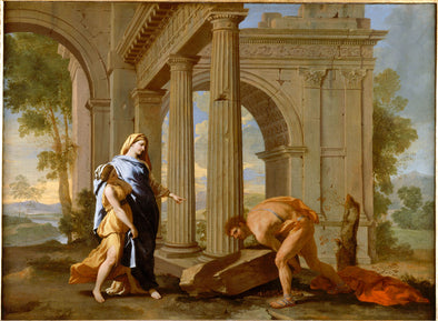Nicolas Poussin - Theseus Finding His Father's Sword
