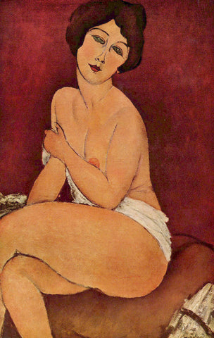 Amedeo Modigliani - Nude Sitting on a Divan (La Belle Romaine)