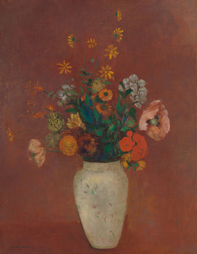 Odilon Redon - Bouquet in a Chinese Vase