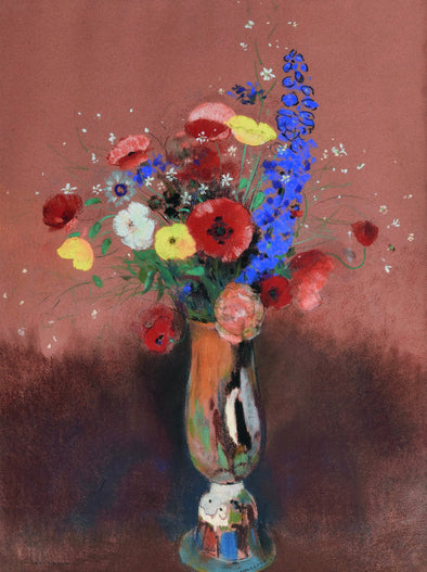 Odilon Redon - Bouquet of wild flowers in a Long Necked Vase