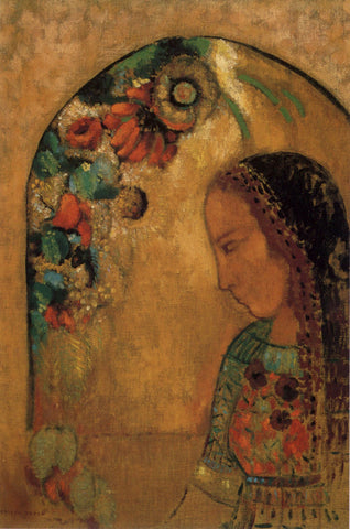 Odilon Redon - Lady of the Flowers