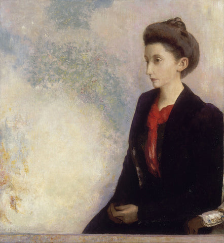 Odilon Redon - Portrait of Baroness Robert de Domecy