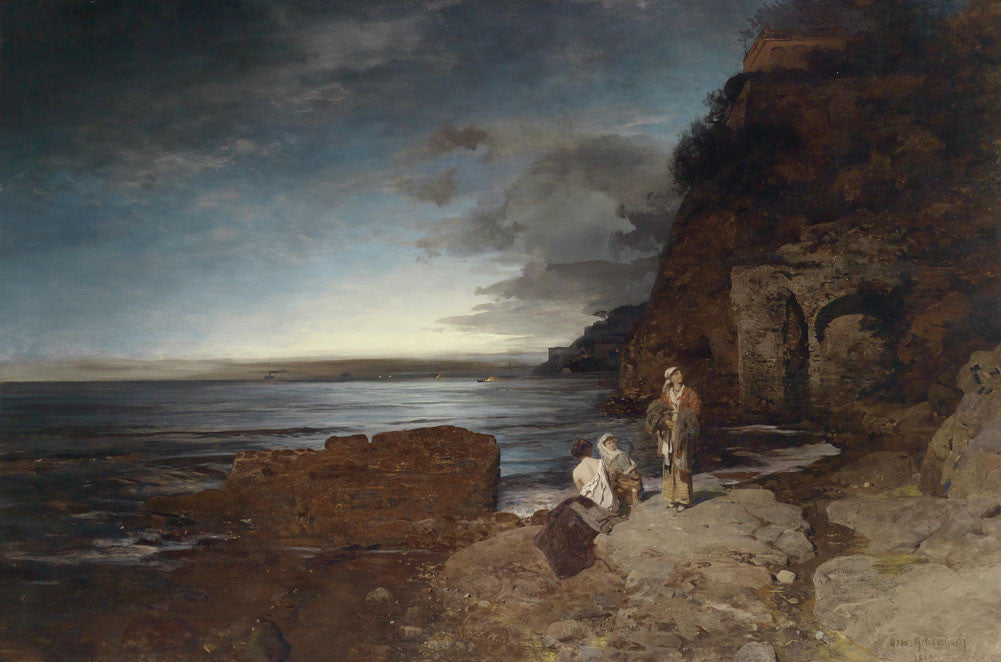 Oswald Achenbach - Evening on the Coast