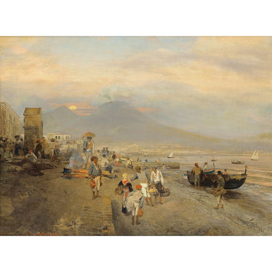Oswald Achenbach - View of Naples