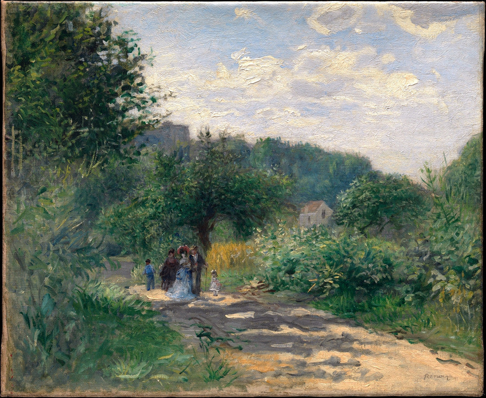 Pierre-Auguste Renoir - A Road in Louveciennes