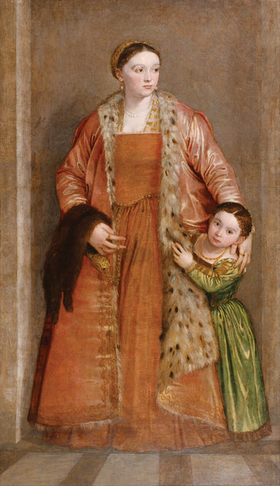Paolo Veronese - Portrait of Countess Livia da Porto Thiene and her Daughter Deidamia
