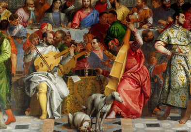 Paolo Veronese - The Marriage Feast at Cana, detail of Christ and musicians