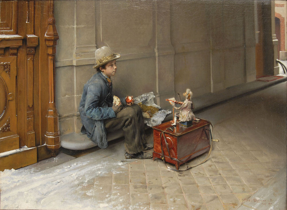 Pascal Dagnan-Bouveret - Young Savoyard Eating under a Door