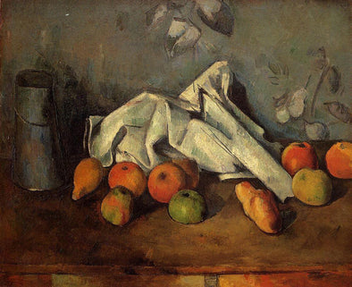 Paul Cézanne - Milk Can and Apples