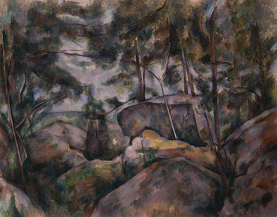 Paul Cézanne - Rocks in the Forest