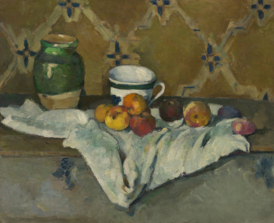 Paul Cézanne - Still Life with Jar, Cup, and Apples