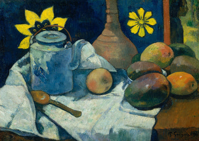 Paul Cézanne - Still Life with Teapot and Fruit
