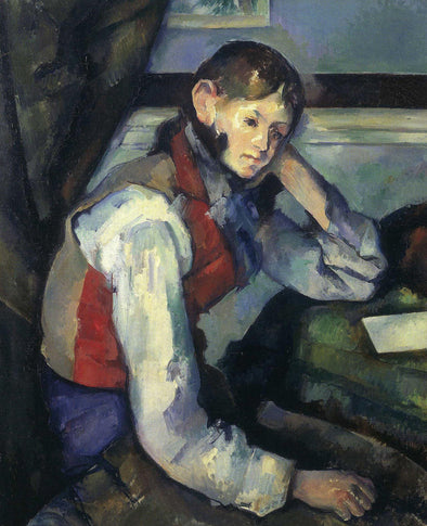 Paul Cézanne - The Boy in the Red Vest