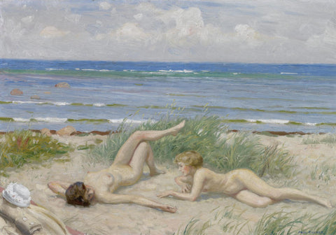 Paul Fischer - Girls on the beach