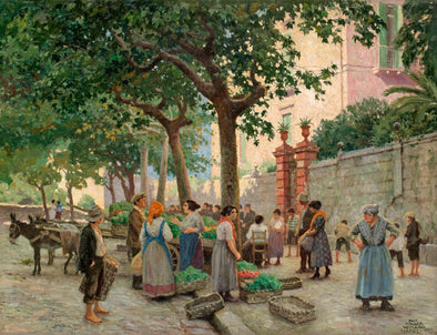 Paul Fischer - Vegetable Market In Vomero Naples