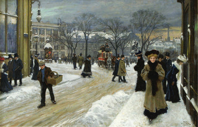 Paul Fischer - Winter in Kongens Nytorv (King's Square)