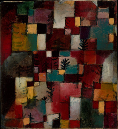 Paul Klee - Redgreen and Violet Yellow Rhythms