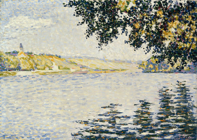 Paul Signac - View of the Seine at Herblay