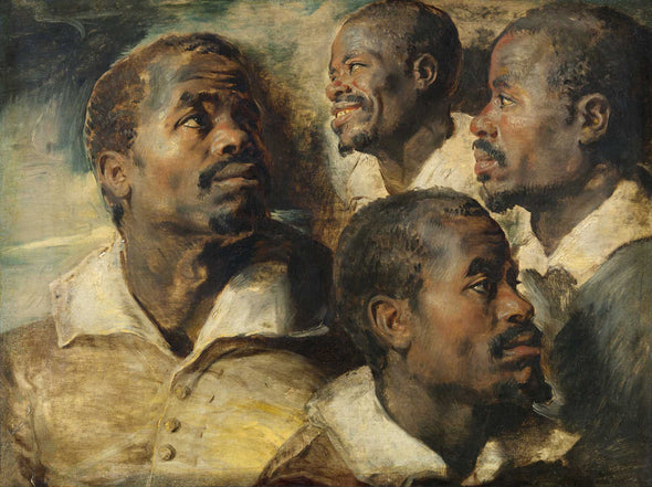 Peter Paul Rubens - Four Studies of the head of a Moore