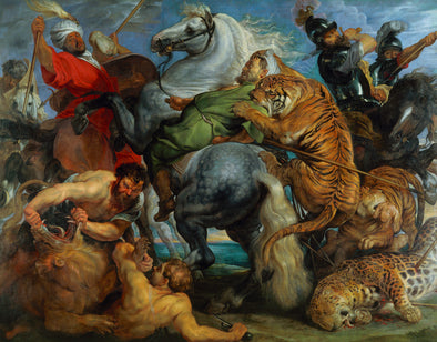 Peter Paul Rubens - Tiger, Lion and Leopard Hunt