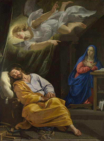 Philippe de Champaigne - Dream Saint Joseph