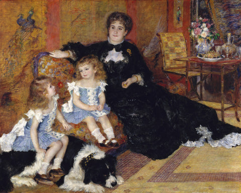 Pierre-Auguste Renoir - Marguerite Louise Lemonnier and Her Children