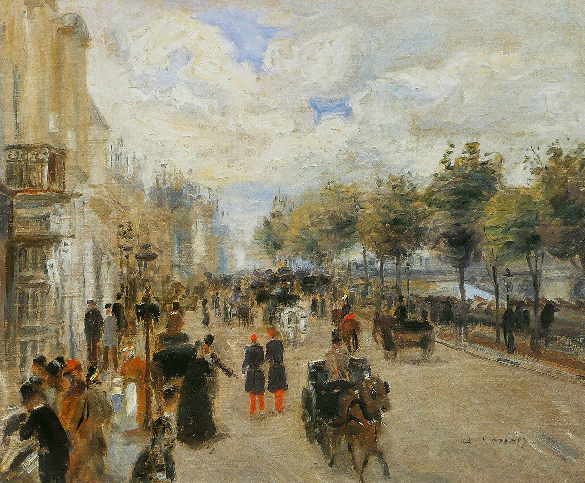 Pierre auguste renoir paris le quai malaquais get for Auguste renoir paris